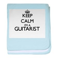 Keep calm I'm a Guitarist baby blanket