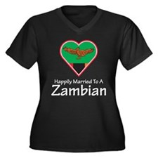 Happily Married Zambian Women's Plus Size V-Neck D
