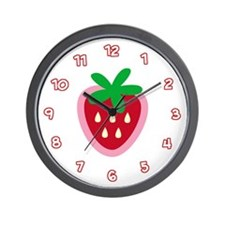 Strawberry Solitaire Wall Clock