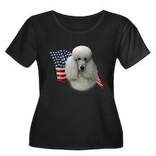 Poodle (Wht) Flag T