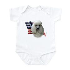 Poodle (Wht) Flag Infant Bodysuit