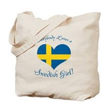 Cute Swedish american Tote Bag