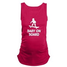 Baby On Board Pun Maternity Tank Top