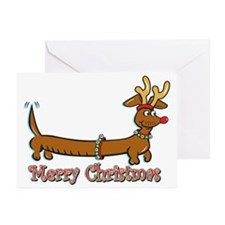 Merry Christmas Dachshund Greeting Cards