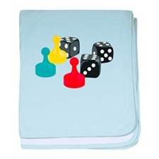 Game Pieces baby blanket