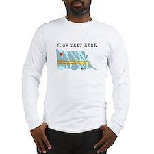 Custom Aruba Flag Long Sleeve T-Shirt