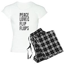 Peace Love and Flip Flops Stamp Pajamas