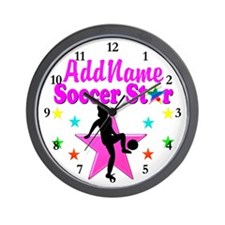 SOCCER PLAYER Wall Clock