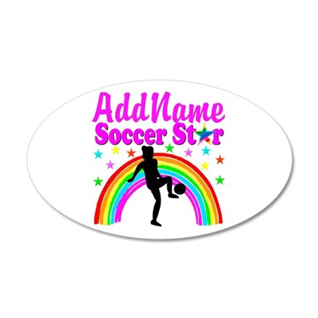 SOCCER PLAYER 20x12 Oval Wall Decal