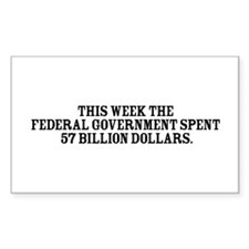 Government Fun Facts Rectangle Decal