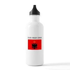 Custom Albania Flag Water Bottle
