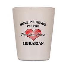 World's Best Librarian Shot Glass