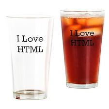 i love html Drinking Glass