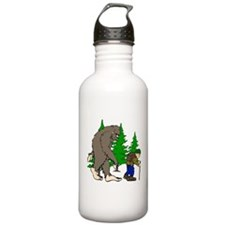 Sasquatch and hiker Water Bottle