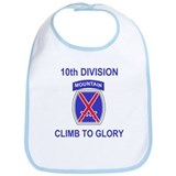 10th Mountain Division <BR>Baby Bib