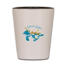 The Great Lakes Shot Glass