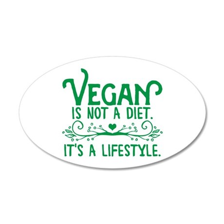 Vegan is Not a Diet 35x21 Oval Wall Decal