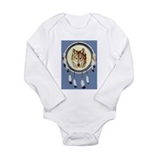 Cute Wolf art Long Sleeve Infant Bodysuit