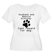 Husband And Westie Missing Plus Size T-Shirt
