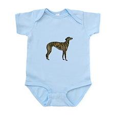 Greyhound (brindle) Infant Bodysuit
