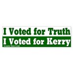 I Voted for Truth and Kerry Bumpersticker