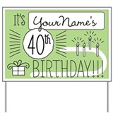 40 birthday Yard Signs