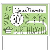 Personalized 30th birthday Yard Signs
