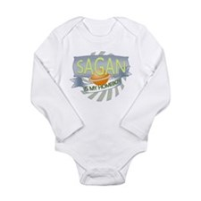Cute Saturn Long Sleeve Infant Bodysuit
