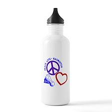 PEACE-LOVE-BADMINTON Water Bottle