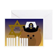 To Coast Guard Chief Hanukkah Card Greeting Cards