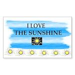 I LOVE THE SUNSHINE Rectangle Sticker