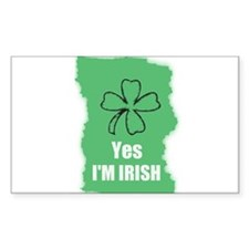 YES I'M IRISH Rectangle Decal