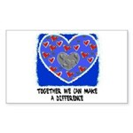 TOGETHER WE CAN Rectangle Sticker