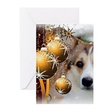 Holiday Sable Corgi Greeting Cards (pk Of 10)