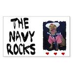 THE NAVY ROCKS Rectangle Sticker