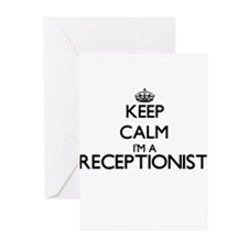 Keep calm I'm a Receptionist Greeting Cards