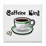 Caffeine King Tile Coaster