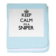 Keep calm I'm a Sniper baby blanket
