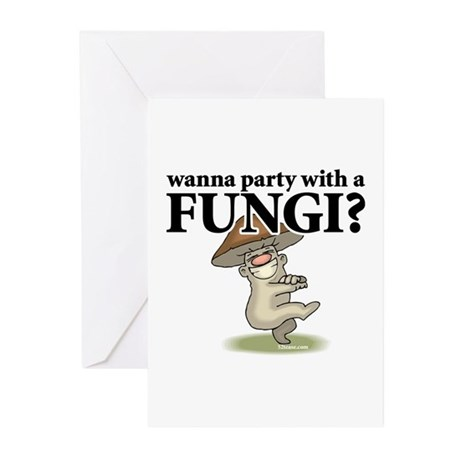 Party with Fungi Party Invitations (Pk of 10)