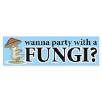 Party with Fungi Bumper Sticker