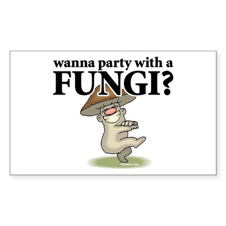 Party with Fungi Rectangle Sticker