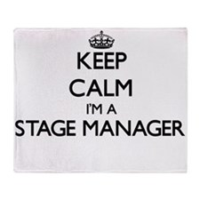 Keep calm I'm a Stage Manager Throw Blanket