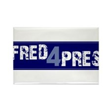 Fred for Pres Blue Rectangle Magnet (10 pack)