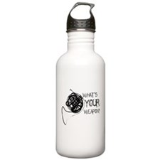 French Horn Weapon Water Bottle