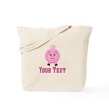 Personalizable Pink Pig Tote Bag