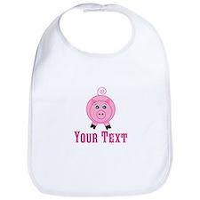 Personalizable Pink Pig Bib