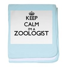 Keep calm I'm a Zoologist baby blanket