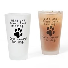 Wife And Great Dane Missing Drinking Glass