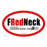 I'm a FRedneck Oval Decal