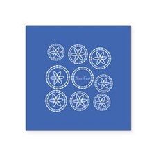 Custom Blue White Floral Pattern Sticker